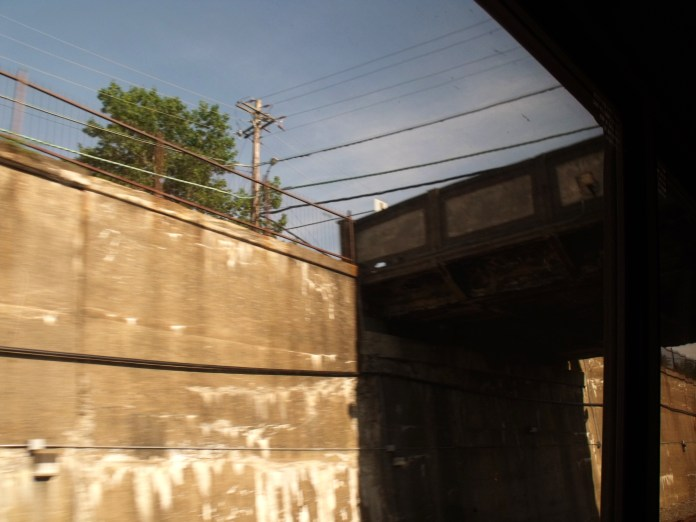 Trestle seen from passenger seat. Photo by Francis DiClemente.