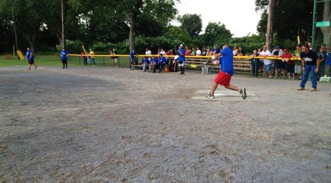 Bill Vinci swinging away. Photo courtesy of Bill Vinci.