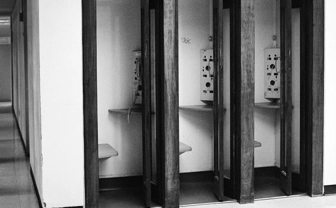 Phone booths at Bird Library. Photo by Francis DiClemente.