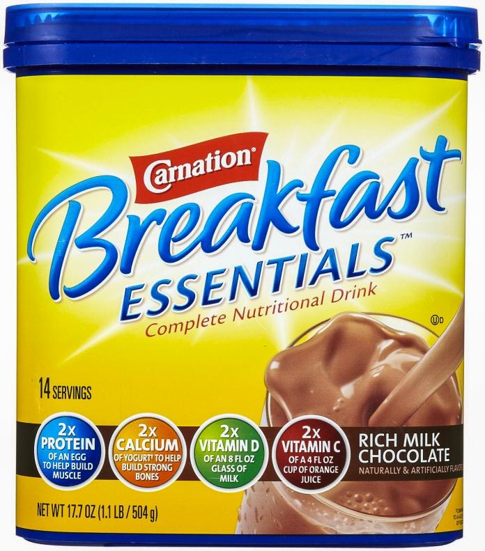 Carnation Breakfast Drink.