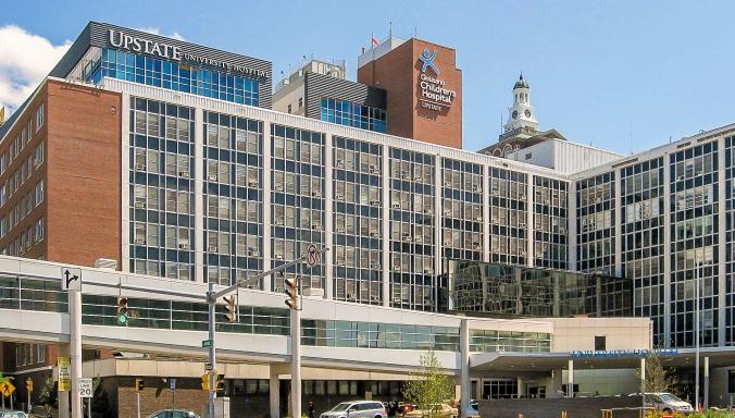 Upstate University Hospital.   Photo by DASonnenfeld.