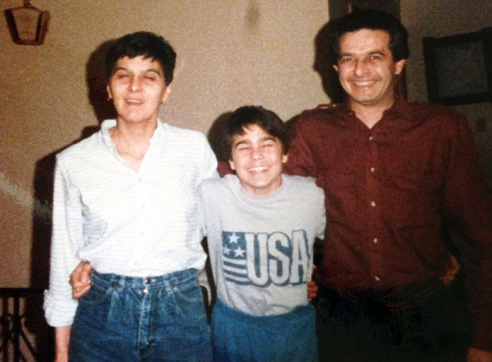Posing with my parents prior to the surgery in 1984.