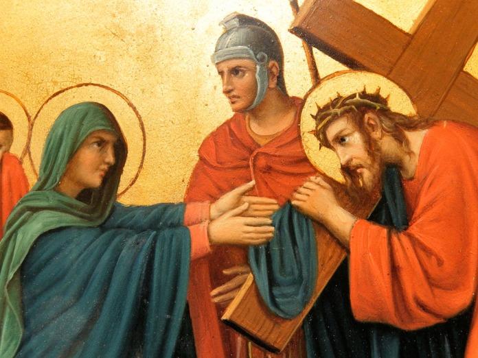 Jesus Meets His Mother