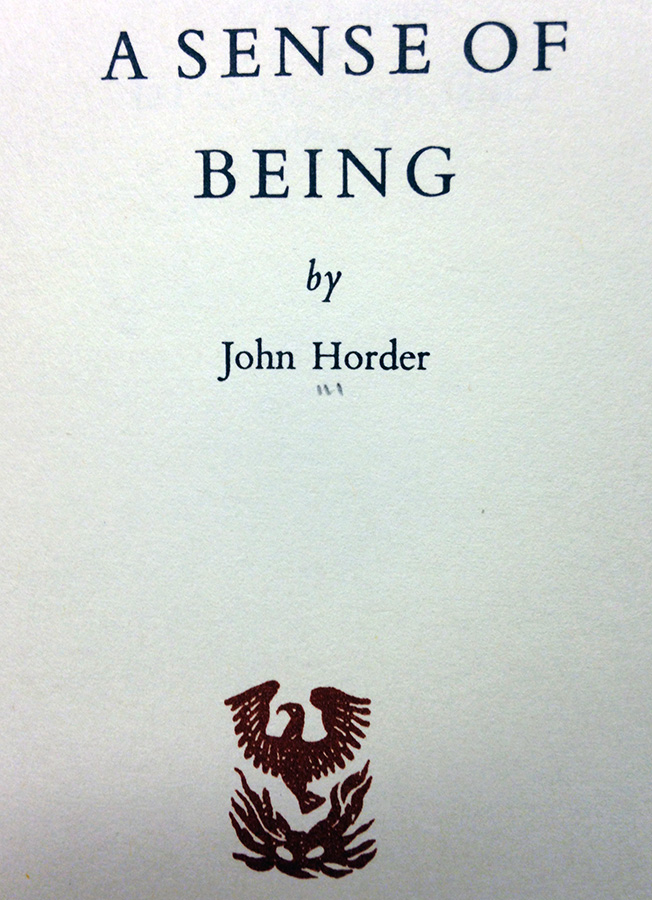 A Sense of Being by John Horder.