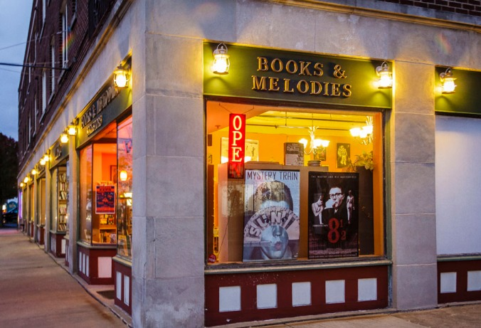Exterior of Books and Melodies bookstore on James Street in Syracuse, New York. (Photos by Francis DiClemente)