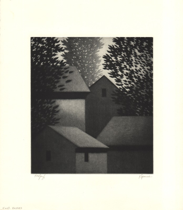 Four Houses by Robert Kipniss (1991)