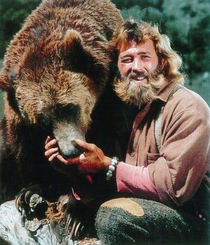 Dan Haggerty as Grizzly Adams.