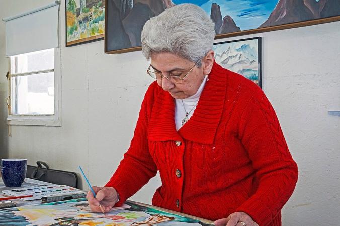 Sister Joselle Orlando in her studio.