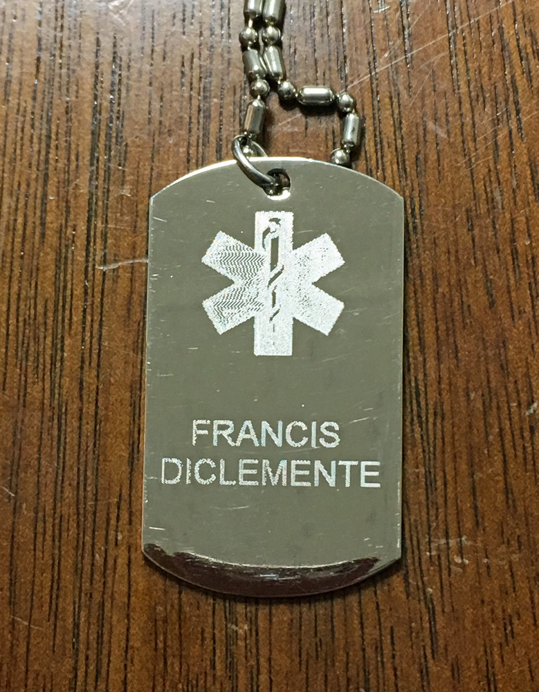 My medical ID necklace