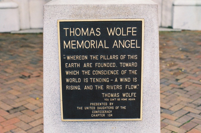 Thomas Wolfe Memorial Angel Quote (Photo by Francis DiClemente)